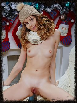 A sweet and warm holiday treat from the blue-eyed goddess Lucia D baring her flawless body.
