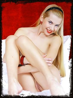 Daring blonde with creamy white complexion, petite body, and irresistable lusty desires.