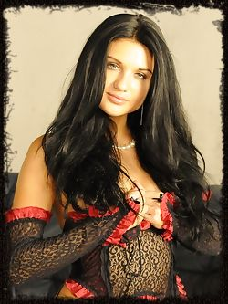Lovina is a dark haired Vixen who likes to dominate other women and make them submit to her will.