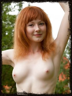 Rochelle A is a natural redhead with matching carpet