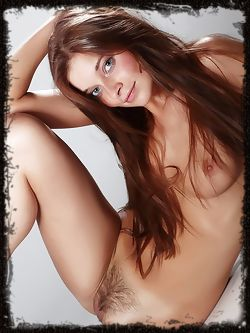 Wow is all I can say, this beautiful girl with the big blue eyes and trimmed thick bush.
